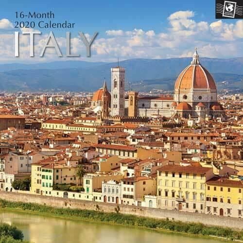 Italy - 16 Month Wall Calendar 2020