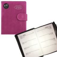 2020 Organiser Diary, Address Book and Pen - Midi Pink