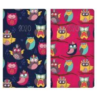 2020 Week to View Slim Diary - Owls Design