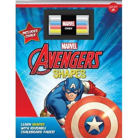 Marvel's Avengers Chalkboard Shapes: Learn shapes with reusable chalkboard pages!