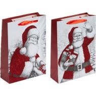 Luxury Christmas Glitter Santa Small Gift Bag