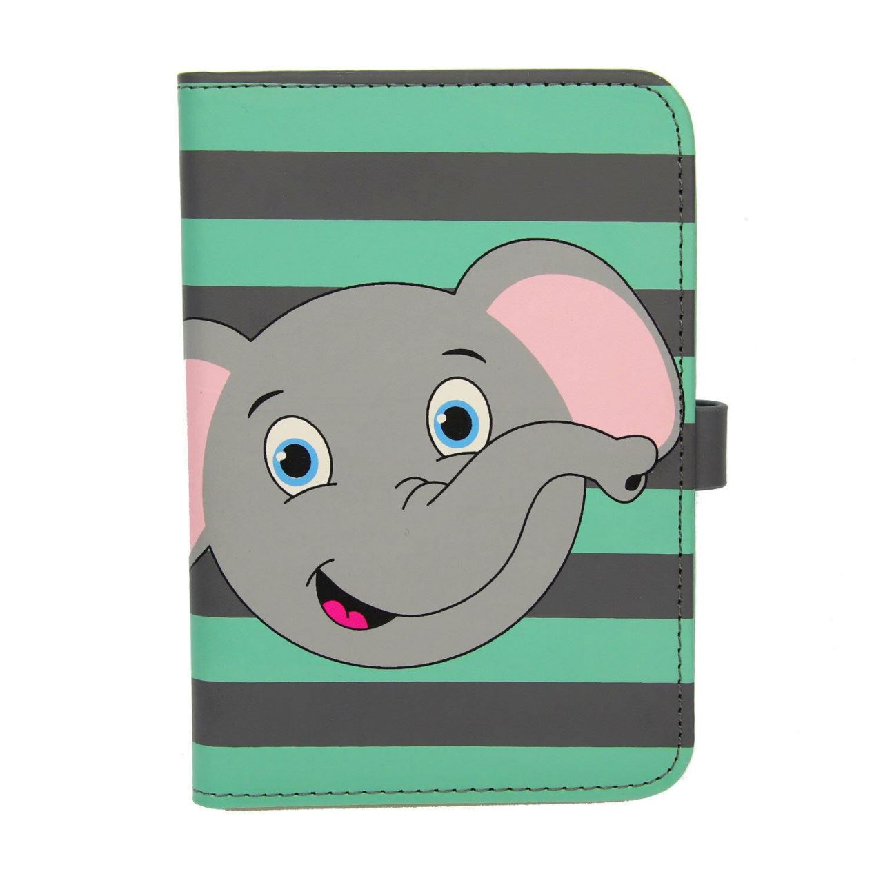 Children Elephant Pu Leather Passport Cover Wallet Id Travel Protector Kids imagine
