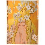 MUCHA: LILY (Flame Tree Notebooks)
